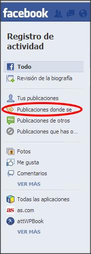 facebook opciones