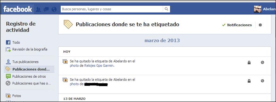 facebook etiquetado